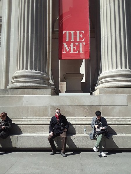 Lucas in Front of the Met